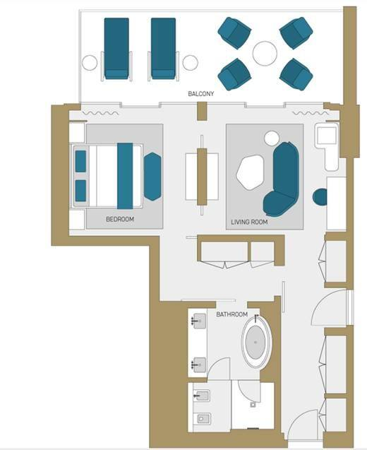 Junior Suite Features floorplan.